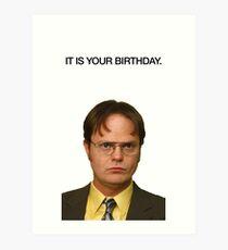 Lámina artística Es tu cumpleaños.