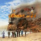Fire - Cliffside fire 1907 by Mike  Savad