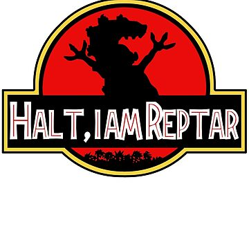 Halt I am Reptar - Jurassic Park by retrosaurus
