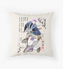Dragon Ball Z - Future Trunks vs Frieza - 2 - Samurai Art  Throw Pillow
