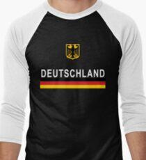 Deutschland Football Jersey German Eagle Men's Baseball ¾ T-Shirt