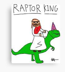 Jesus The Raptor King Canvas Print