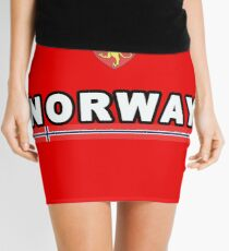 Norway National Sport Game Mini Skirt