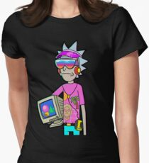 Vaporwave Rick Womens Fitted T-Shirt