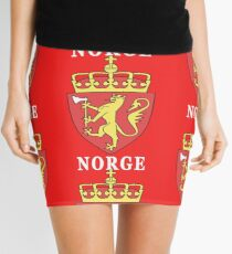 Norge Norway National Game Design Mini Skirt