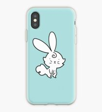 Cute White Bunny iPhone Case