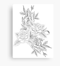 Roses are....Black and White Canvas Print