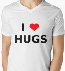 I LOVE HUGS T-SHIRTS MUGS LEGGINGS DUVET COVERS ETC Men's V-Neck T-Shirt
