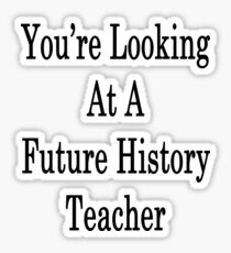 You're Looking At A Future History Teacher  Sticker