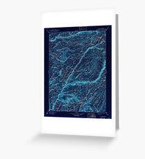 USGS TOPO Map California CA Big Trees 299225 1901 125000 geo Inverted Greeting Card