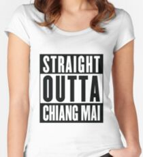 Straight Outta Chiang Mai Women's Fitted Scoop T-Shirt