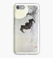 Bats in Moonlight by Ohara Koson iPhone Case/Skin