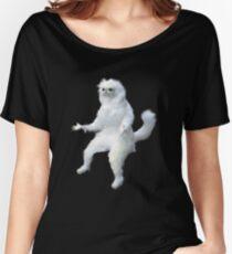 Persian Cat Room Guardian Meme Women's Relaxed Fit T-Shirt
