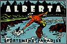 Alberta Fly Fishing AB Vintage Travel Decal by hilda74