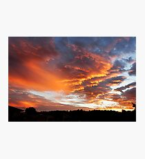 Fiery clouds over Goonellabah, NSW Photographic Print