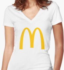 McDonald's Logo Women's Fitted V-Neck T-Shirt