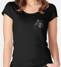 dslr / blk on blk Women's Fitted Scoop T-Shirt