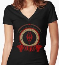 Imperial Legion - Solitude Women's Fitted V-Neck T-Shirt