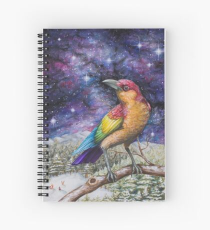 Rainbow Crow Spiral Notebook