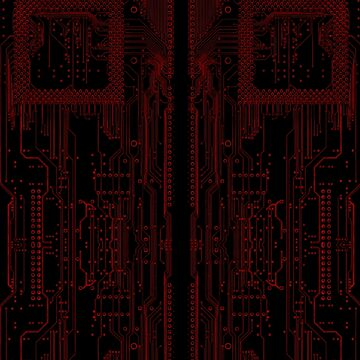 Circuitry Leggings (RED) by 01Graphics
