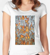 Metal rust background Women's Fitted Scoop T-Shirt