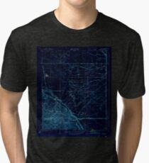 USGS TOPO Map California CA Tupman 301548 1933 31680 geo Inverted Tri-blend T-Shirt