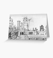 Greenwich Village Roofscape  Greeting Card