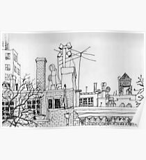 Greenwich Village Roofscape  Poster