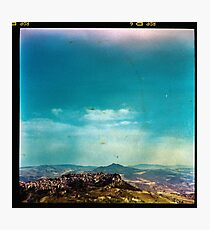 Dirty Landscape - Enna, Sicily. Photographic Print