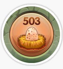 Glitch Achievement egg poacher Sticker