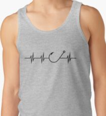 Fishing Heart Beat Tank Top