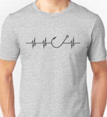 Fishing Heart Beat Unisex T-Shirt