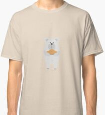 Polar Bear with pie Classic T-Shirt