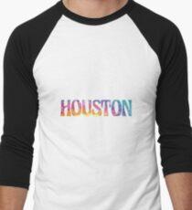 HOUSTON TIE DYE Baseball ¾ Sleeve T-Shirt