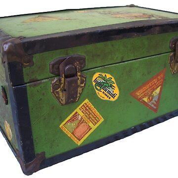 vintage steamer trunk by jackiekeating