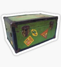 vintage steamer trunk Sticker