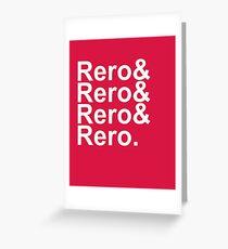 Rero& Helvetica Greeting Card