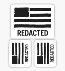State of Secrecy Med/Sm 3-Sticker Pack (Redacted Version) Sticker