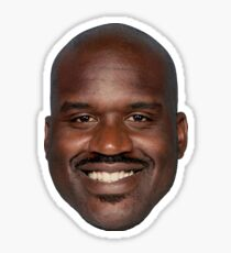 Shaquille O'Neal - What a Head  Sticker