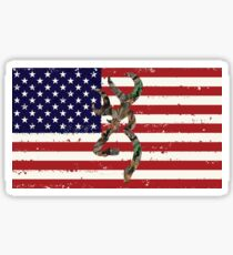 American Flag Browning Sticker