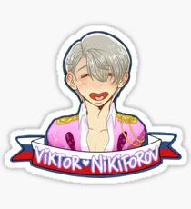 Yuri!!! on Ice - Viktor Nikiforov - Performance suit - Heart shape mouth - No hearts Sticker
