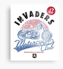 Invaders Motorcycle Club South Dakota Canvas Print