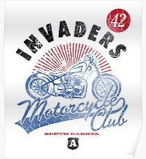 Invaders Motorcycle Club South Dakota Poster