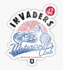 Invaders Motorcycle Club South Dakota Sticker