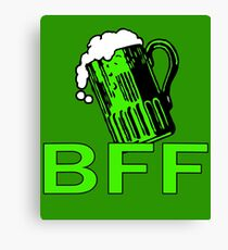 Green Beer is My BFF Canvas Print