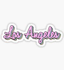 los angeles retro Sticker