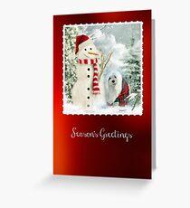 Snowdrop the Maltese Christmas Card Greeting Card