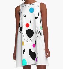 Spot Color A-Line Dress