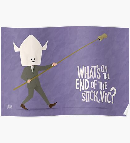 The Man with The Stick Poster
