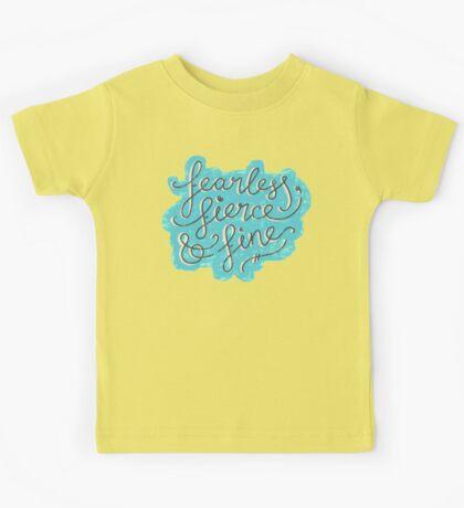 Fearless, Fierce & Fine - Blue & Grey Kids Clothes